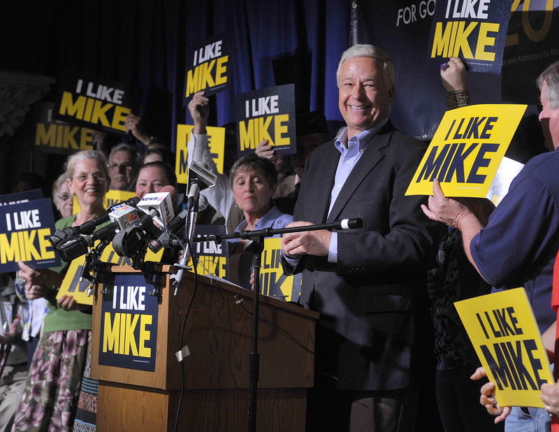 U.S. Rep. Mike Michaud, D-Maine, announces Thursday that he's running for governor during a news conference at the Franco-American Heritage Center in Lewiston.