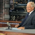 """Host David Letterman, shown on the set of """"Late Show with David Letterman"""" in July, marks 20 years with CBS."""