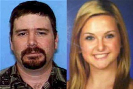 These undated photos provided by the San Diego Sheriff's Department shows James Lee DiMaggio, left, and Hannah Anderson, 16. The 16-year-old California girl who was kidnapped by DiMaggio, a close family friend, says he threatened to kill her if she tried to escape.