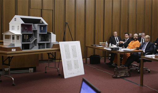 A model of Ariel Castro's house in Cleveland is on display in the courtroom during the sentencing phase.