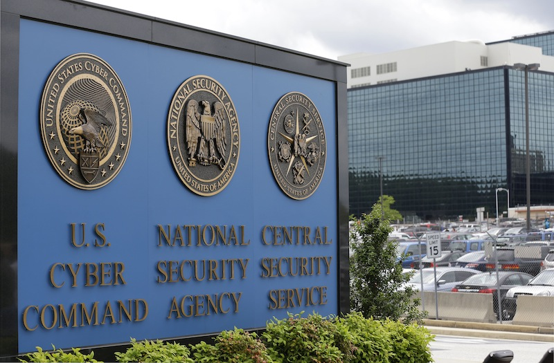 This June 6, 213 file photo shows the sign outside the National Security Agency (NSA) campus in Fort Meade, Md. The NSA has broken privacy rules or overstepped its legal authority thousands of times each year since Congress granted the intelligence agency broad new powers in 2008, The Washington Post reports. In one case, telephone calls from Washington were intercepted when the city's area code was confused with the dialing code for Egypt. (AP Photo/Patrick Semansky, File)