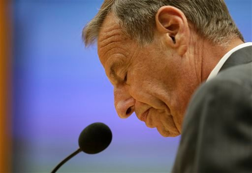 In this Aug. 23, 2013, photo, San Diego Mayor Bob Filner speaks after agreeing to resign at a city council meeting in San Diego.