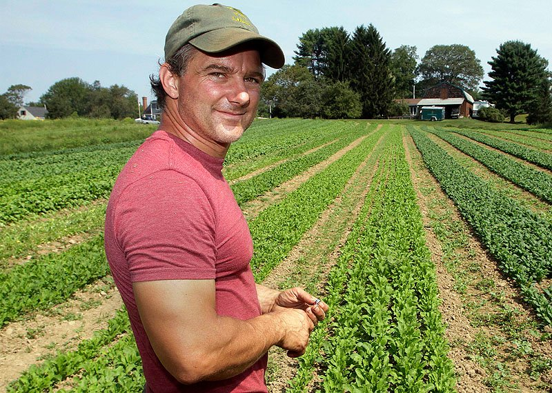 Andre Cantelmo of Heron Pond Farm in South Hampton, N.H., joined hundreds of fellow New England farmers at public hearings last week on expanded food-safety rules.