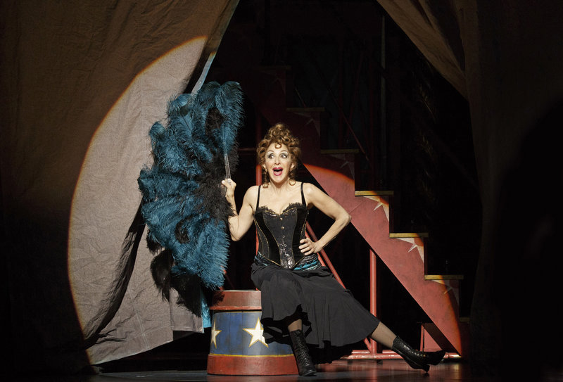 """Portland native Andrea Martin performs during a production of """"Pippin"""" at Broadway's Music Box Theater, where she plays a robust older woman with secrets to share with her grandson."""