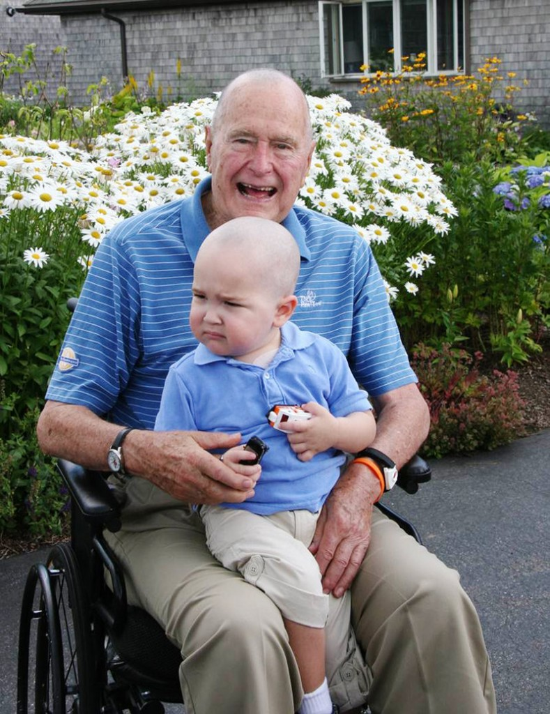 The Kennebunkport Historical Society will donate all of its Saturday admission proceeds to help a boy with cancer who inspired former President George H.W. Bush to shave his head last month.
