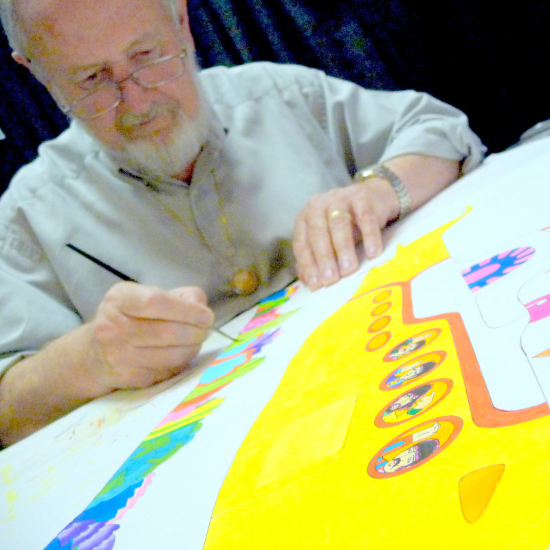 """Ron Campbell, above, who directed """"The Beatles"""" Saturday-morning cartoon show and served on the animation team of the 1968 film """"Yellow Submarine,"""" will be in Portland this week for the WBLM Rock Art Show & Sale."""