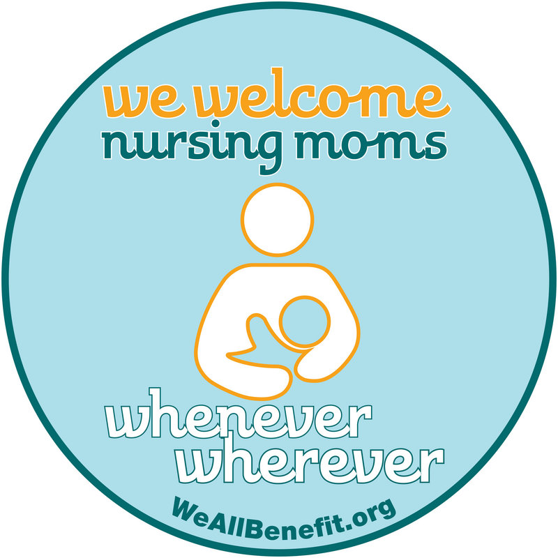 Look for this logo in public spaces that welcome breastfeeding moms.