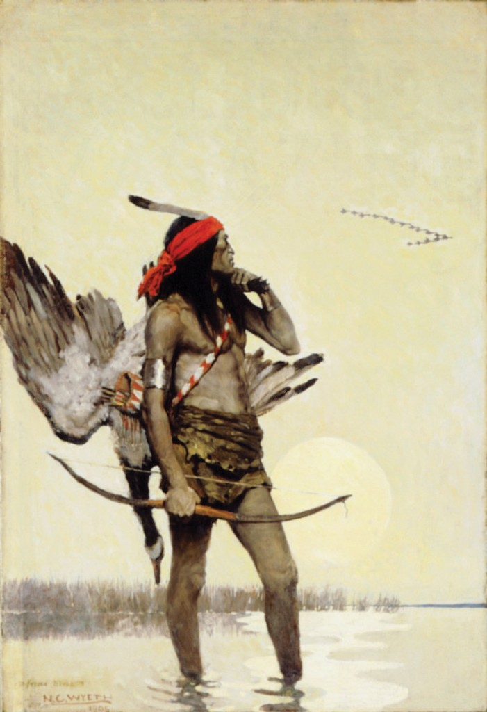 """N.C. Wyeth paintings at the Farnsworth Art Museum include """"The Hunter."""""""