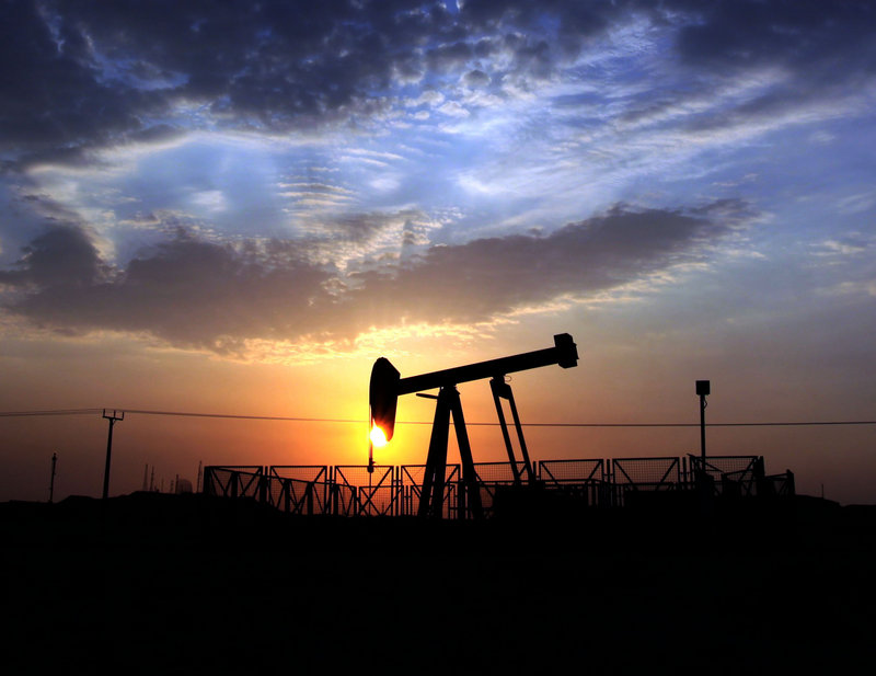 An oil pump operates in the desert oil fields of Sakhir, Bahrain. Except for in the Middle East, where there are large pools of oil and gas in relatively easy-to-drill locations, it's getting far more expensive to get oil out of the ground.