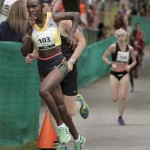 Joyce Chepkirui stayed ahead of a pack of about 10 runners until about the five-mile mark when she pulled away and raced to the women's championship on Saturday in Cape Elizabeth.