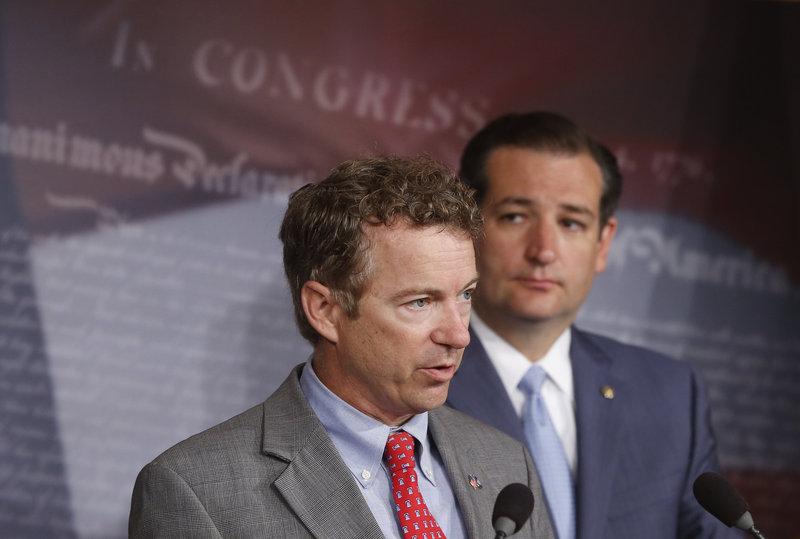 Republican Sens. Rand Paul and Ted Cruz