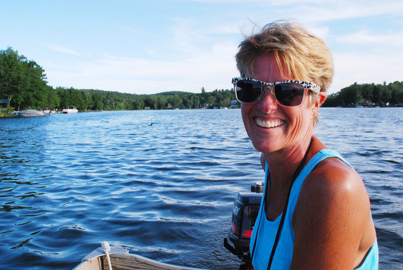 """Jeri Kahl, who has lived on Lake Cobbosseecontee for 37 years, has been the director of the lake's loon count for seven years. """"There always have been a lot of loons all the time we've lived here,"""" she said."""