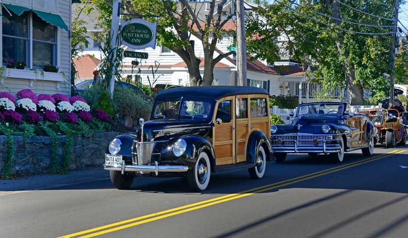 """Sonny Perkins' woodie, with its license plate that reads, appropriately enough, """"GUTA WDY."""""""