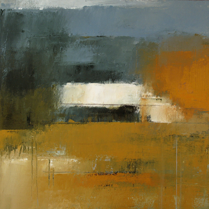 """""""Underhill #2,"""" acrylic by Irma Cerese from """"Suggestion: Landscape,"""" an exhibition of her work continuing through Sept. 22 at Landing Gallery in Rockland."""