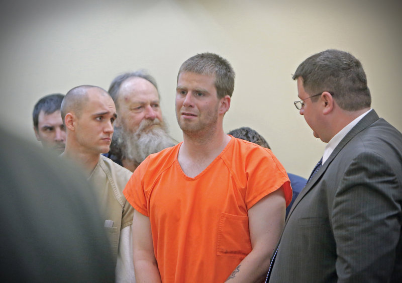 "Bryan Wood, center, stands next to his attorney, Steve Carey, during his arraignment on arson charges May 13 in Lewiston. A recent story about Wood, who is intellectually disabled, elicited comments that ""showed a fair level of ignorance about the vast majority of intellectually disabled people,"" a reader says."