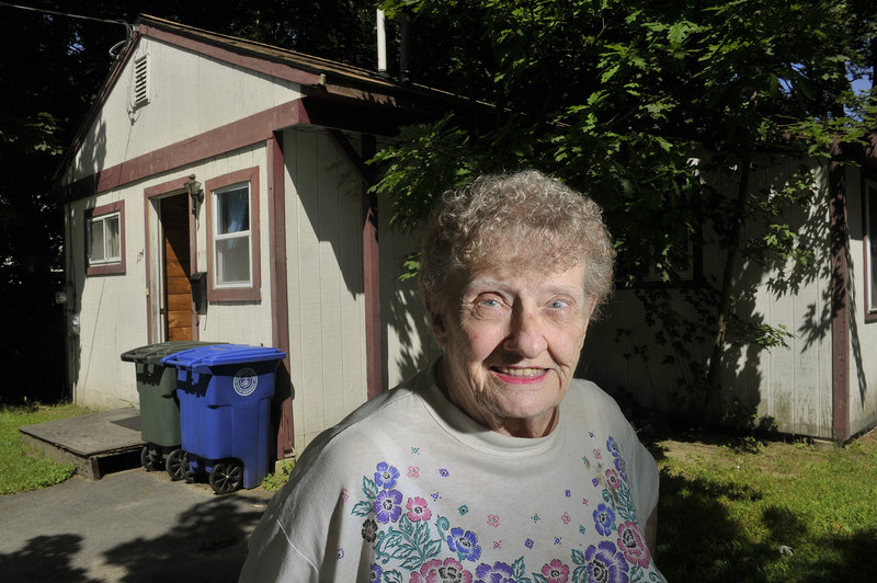 Hazel Clarke at her Westbook home. Clarke needs a ride weekly to conduct blood work in order to control her Tourette's syndrome.