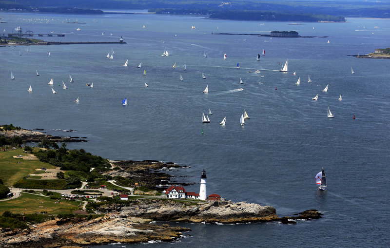 The MS Regatta held Saturday in Casco Bay is the signature event of the three-day MS Harborfest, which raises $100,00 annually for the National Multiple Sclerosis Society.