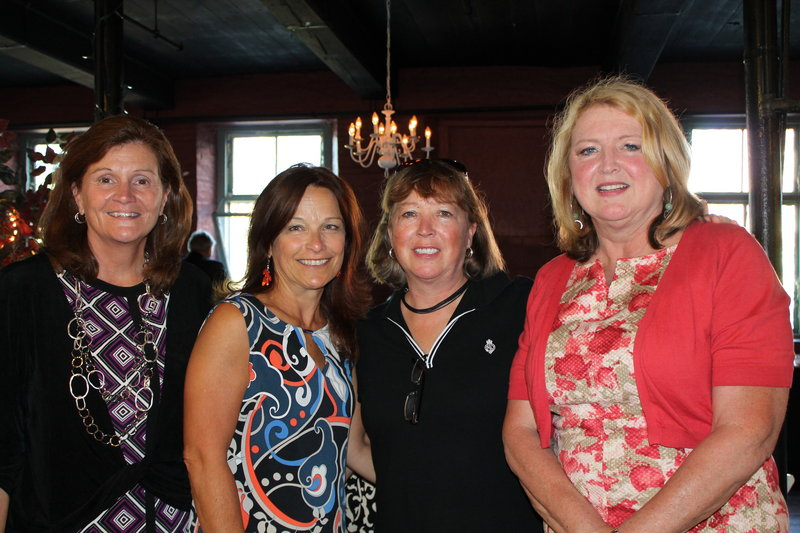State Sen. Linda Valentino of Saco, left, with Sandy Martin of Saco and Traci Moulton and Karen Markellos of Wells.