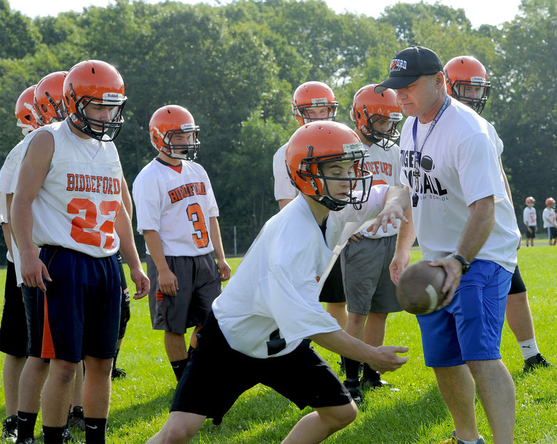Biddeford Coach Brian Curit coached at the middle-school level during his seven years away from the varsity program that he now inherits from Scott Descoteaux.