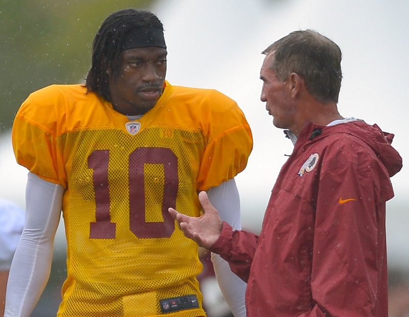 """Robert Griffin III and Washington Coach Mike Shanahan haven't been afraid to say critical things about each other in the media. """"That's part of the process. You want that strong mindset,"""" Shanahan said."""