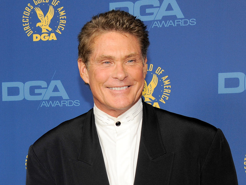 David Hasselhoff urges prayers for a clerk who was injured trying to stop the theft of two cutouts.