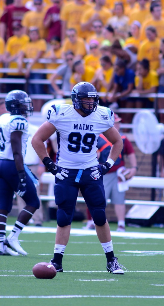 Although Michael Cole missed most of 2012, his seven sacks still led the CAA, giving him a three-year total of 21 that puts him within range of UMaine's career mark of 27 1⁄2.