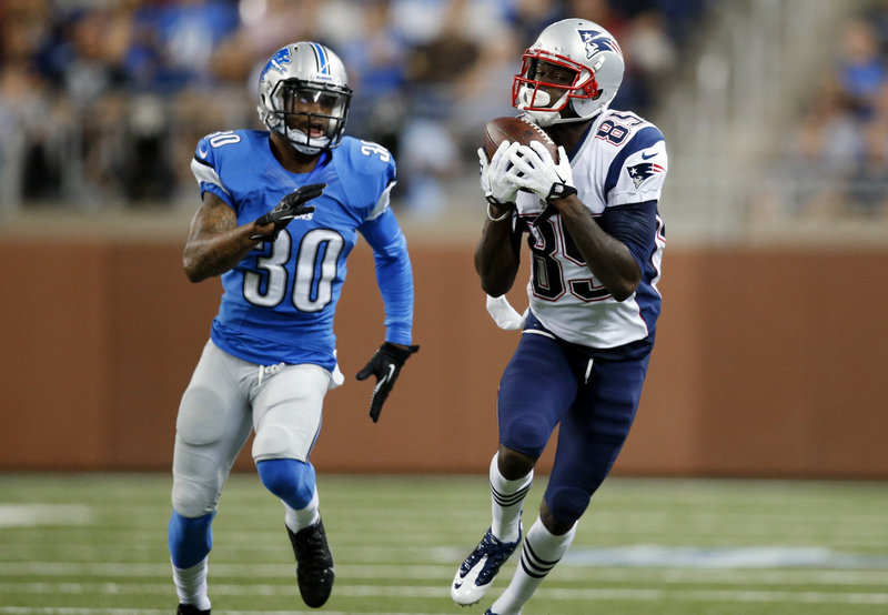 Rookie wide receiver Kenbrell Thompkins was one of the few bright spots for the Patriots, catching eight passes for 116 yards.