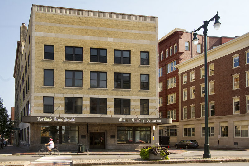 A hotel developer is buying the former Portland Press Herald building, above, on Congress Street, with plans to convert it into The Press Hotel.
