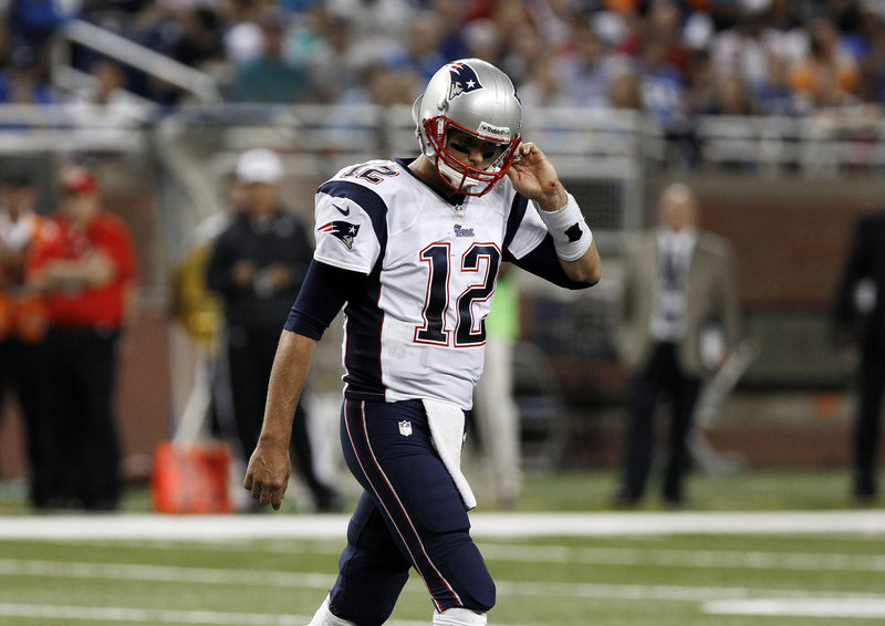Tom Brady and the Patriots offense were done in by a rash of turnovers that led to a 40-9 defeat Thursday night in Detroit.