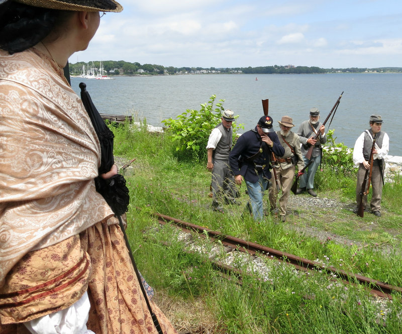 """Re-enactors of the Confederate 15th Alabama regiment will """"raid"""" the train seeking money and supplies."""