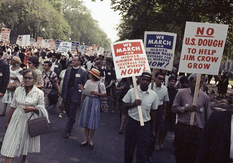 "Advocates of civil rights gather in Washington on Aug. 28, 1963, for the March for Jobs, Justice and Freedom. After hearing the Rev. Martin Luther King Jr's ""I have a dream"" speech, many marchers went back home determined to change the world."