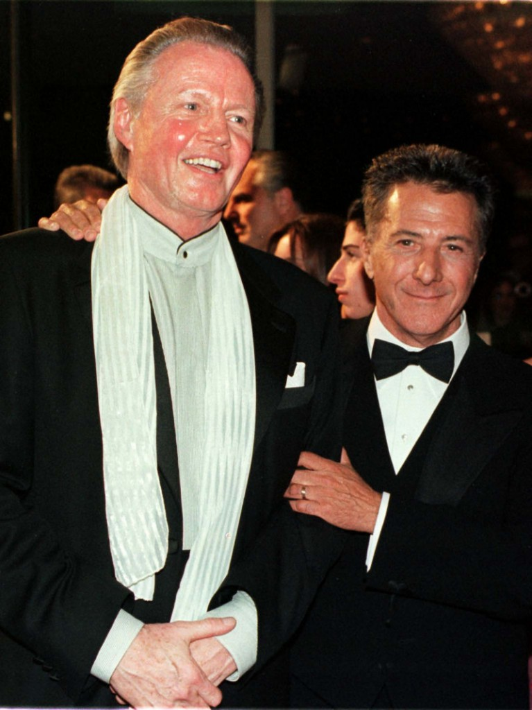 Jon Voight, left, and Dustin Hoffman are seen earlier this year.
