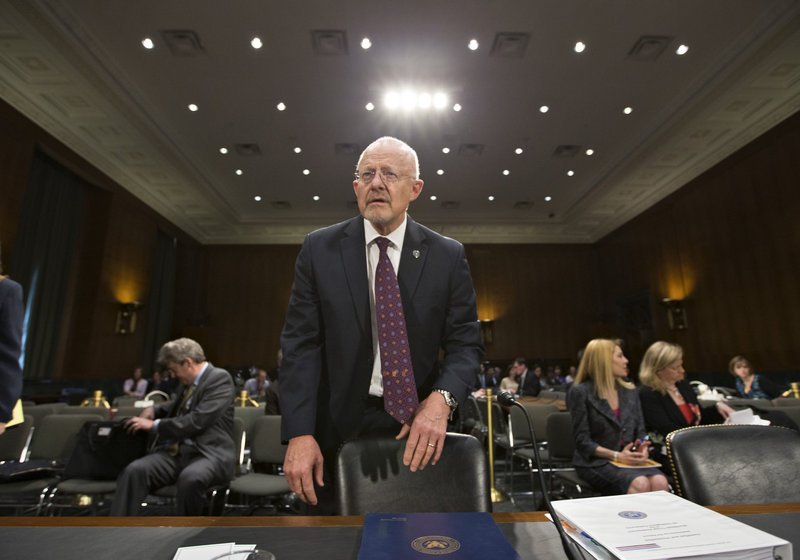 National Intelligence Director James Clapper appears before the Senate Armed Services Committee in April.