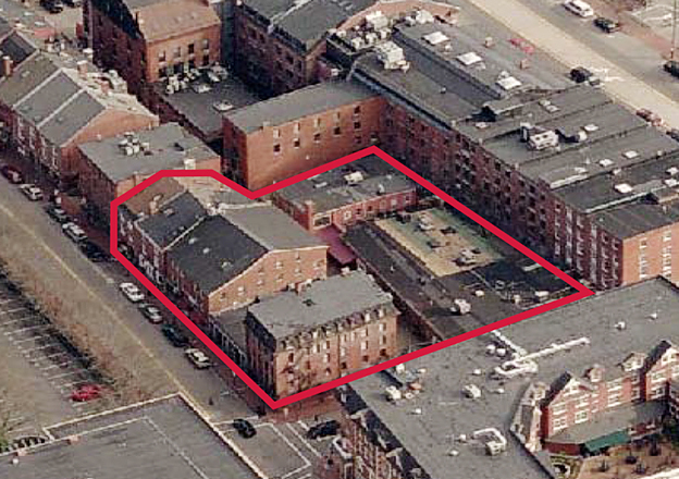 This image provided by Cardente Real Estate shows the Old Port properties that were purchased by Dream Port 3 LLC at auction a year ago and became the focus of an architecture competition.
