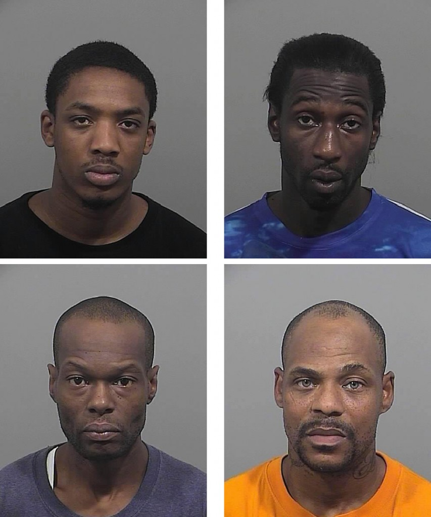 Clockwise from top left: Hasan Daily, Isaiah Sapp, Cyrus Martin, Jermaine Mitchell.