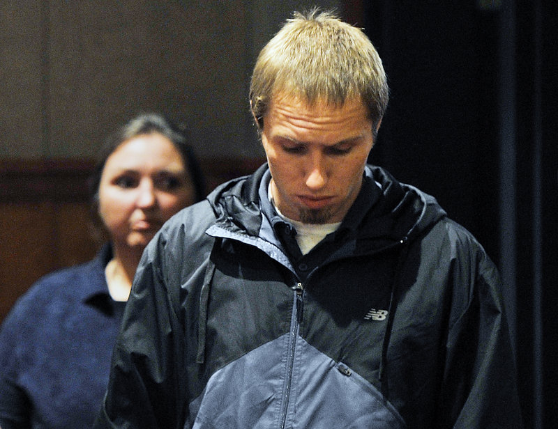 Justin DiPietro, father of Ayla Reynolds, who is missing and presumed dead, enters the the Cumberland County Courthouse on Wednesday, Sept. 25, 2013 with his mother to appear before the judge on an unrelated assault charge.