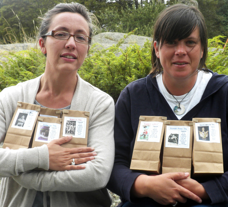Jennifer Larrabee, left, and Sarah Burrin operate Tempest in Teapot, a loose-leaf tea company in Stonington.