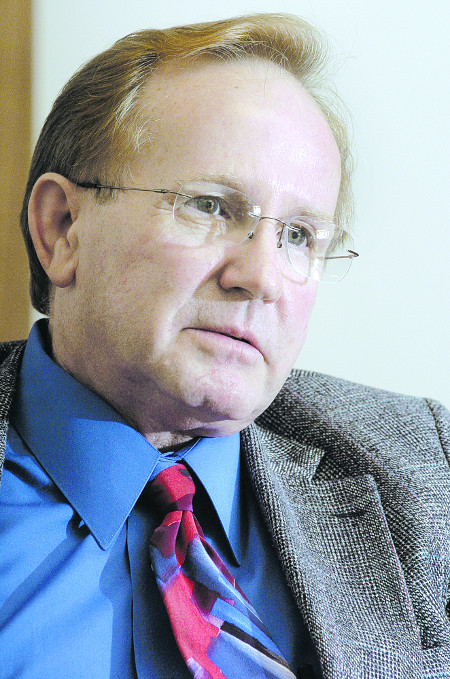 Dave Zacek, president of Lohmann Animal Health International, Maine Biological Laboratories' parent company, photographed on Oct. 12, 2004.