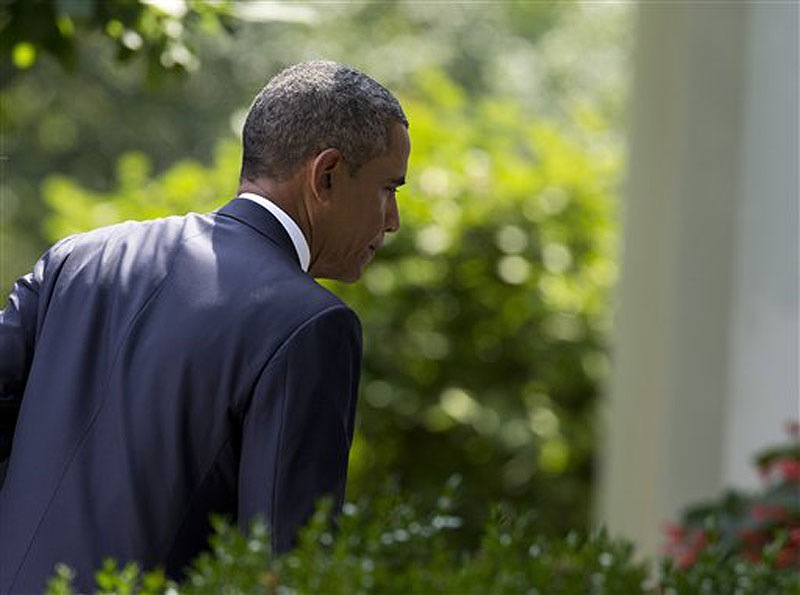 President Obama leaves the Rose Garden at the White House on Aug. 31 after stating that United States should take military action against Syria in response to a deadly chemical weapons.