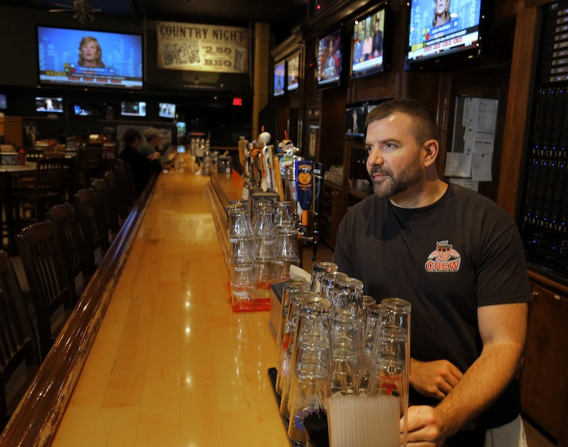 Jeff Ellis, bartender at Binga's Wingas on Free Street, said that if the Portland Pirates were not to return to the Cumberland County Civic Center, it would negatively impact the restaurant's business.