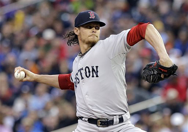 Boston Red Sox pitcher Clay Buchholz throws against the Minnesota Twins on May 17 in Minneapolis. He is scheduled to start against the Tampa Bay Rays on Tuesday.