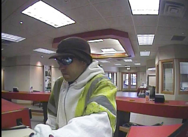 Portland police released this photo from a security camera of a man who allegedly robbed the KeyBank branch at 400 Forest Ave. on Friday.