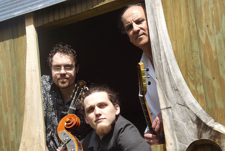 Gypsy jazz outfit Ameranouche is at First Parish Federated Church in South Berwick on Saturday.