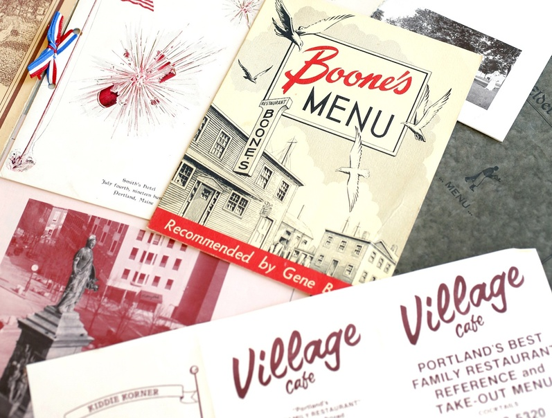 Menus in the collection of the Maine Historical Society in Portland trace the history of dining out in Maine going back to the 19th century.