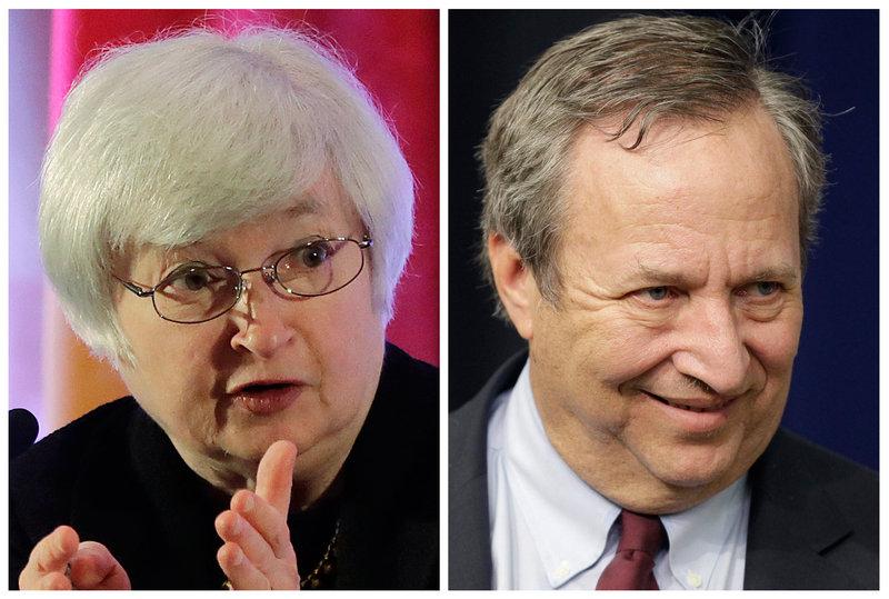 Janet Yellen draws support over Larry Summers, a former economic adviser for President Obama.