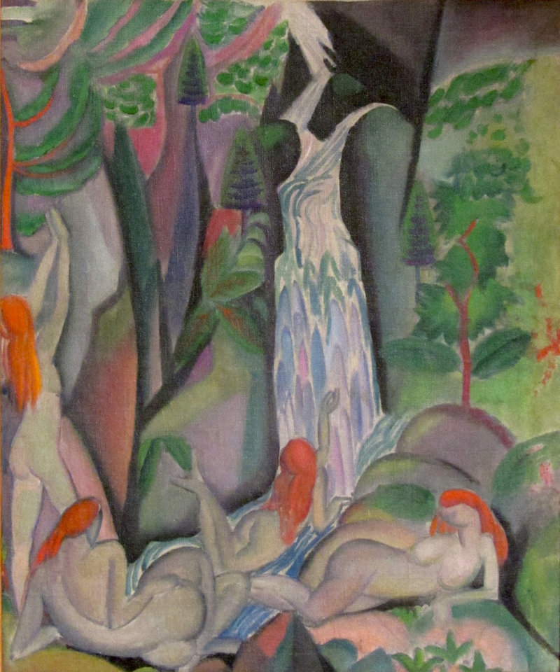 """""""Bathers"""" by Marguerite Zorach, 1913-14, oil on canvas."""