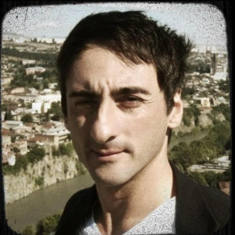 """Gigi Aea was born in Tiblisi, Georgia, and now lives in Camden. Aea will discuss his art, including """"My Garden in Tuscany,"""" on Friday in Rockland."""