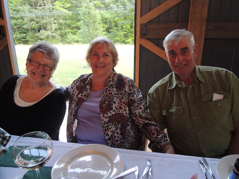 Minnie Matthews of Old Orchard Beach, left, and James and Carol Mielson of South Portland at the Nourish event.