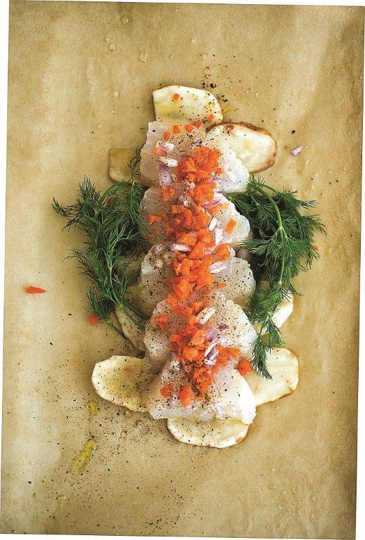 Cod loin baked in parchment paper (Courtesy photo)