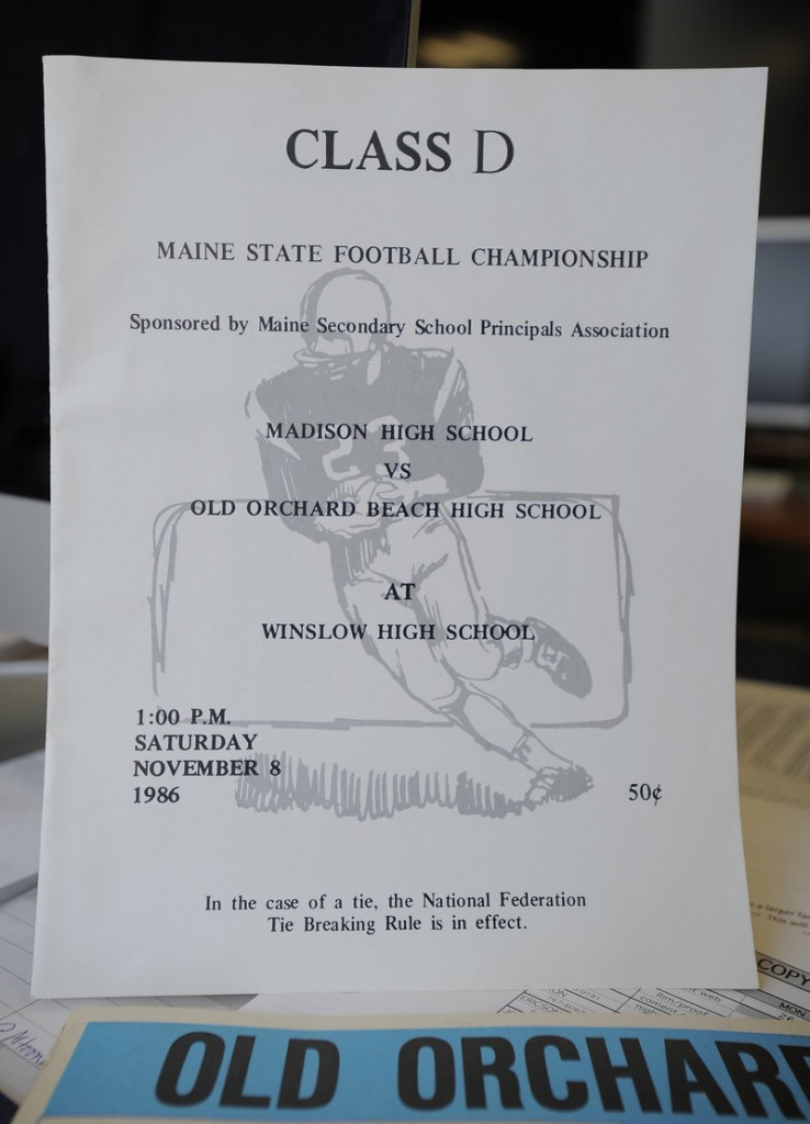 The 1986 program shows it was an Old Orchard-Madison state final.